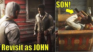 John Revisits The Son Years After Arthur Killed His Father - Red Dead Redemption 2