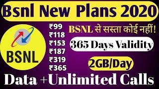 #BSNL Prepaid Recharge Plans & Offers List 2020    BSNL New Best Plans Unlimited Calling & 4G Data