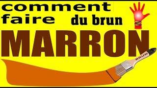 Comment Faire Du Beige En Peinture Couleur Marron Brun Brown Beige Youtube