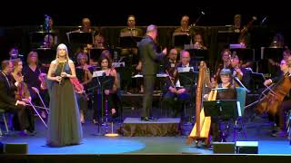 Eimear McGeown performing her composition with WorldCon Philharmonic Orchestra.