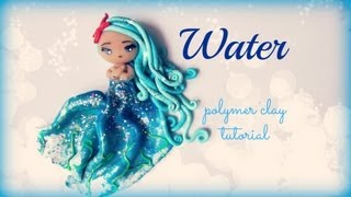 4 Elements - Water - Polymer clay Tutorial ❀ Doll Chibi