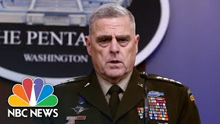 Gambar cover Pentagon Cannot Confirm Trump's Claim Al-Baghdadi Was 'Crying' Before He Died | NBC News