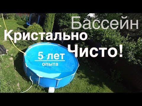 Каркасный бассейн BESTWAY или INTEX на даче, Личный Опыт, как чистить, установить и осветлить воду