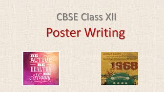 Poster Writing for Class 12 - CBSE English