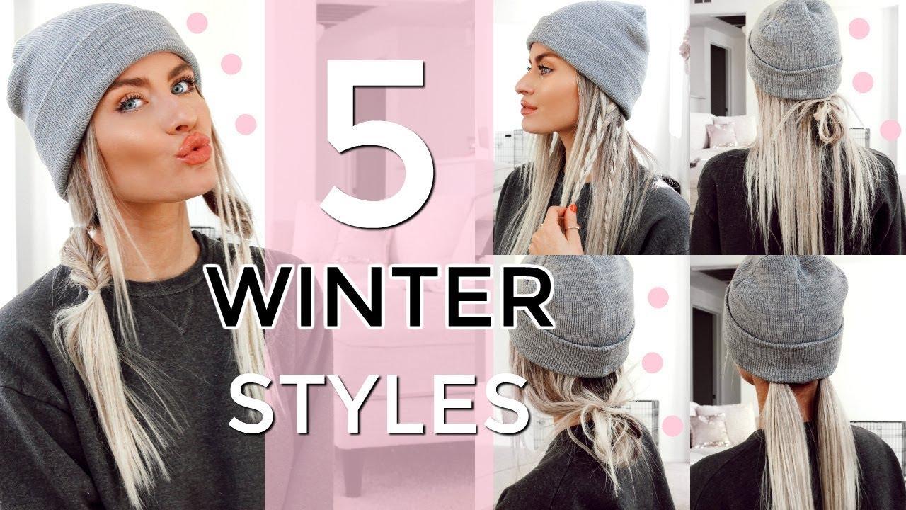 5 heatless winter hat hairstyles - easy & quick!   lyssryann