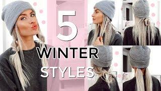 5 HEATLESS WINTER HAT HAIRSTYLES - EASY & QUICK! | LYSSRYANN