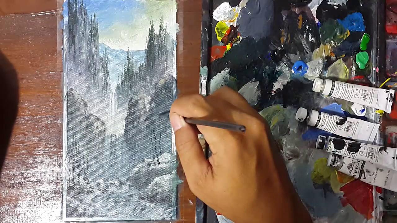 85 Koleksi Lukisan Pemandangan Air Terjun Dari Pandangan Mata Cacing Terbaru