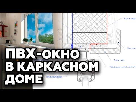 Как установить ПВХ окно в каркасный дом?    Монтаж пластиковых окон в каркасном доме