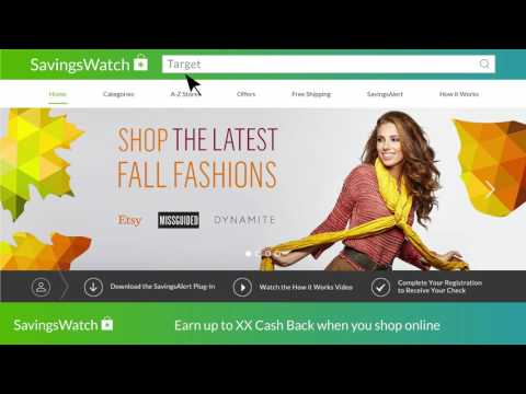SavingsWatch: Earn Cash Back rewards for shopping online