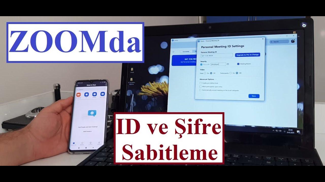 ZOOMda ID ve Şifre Sabitleme (Telefondan ve Bilgisayardan)