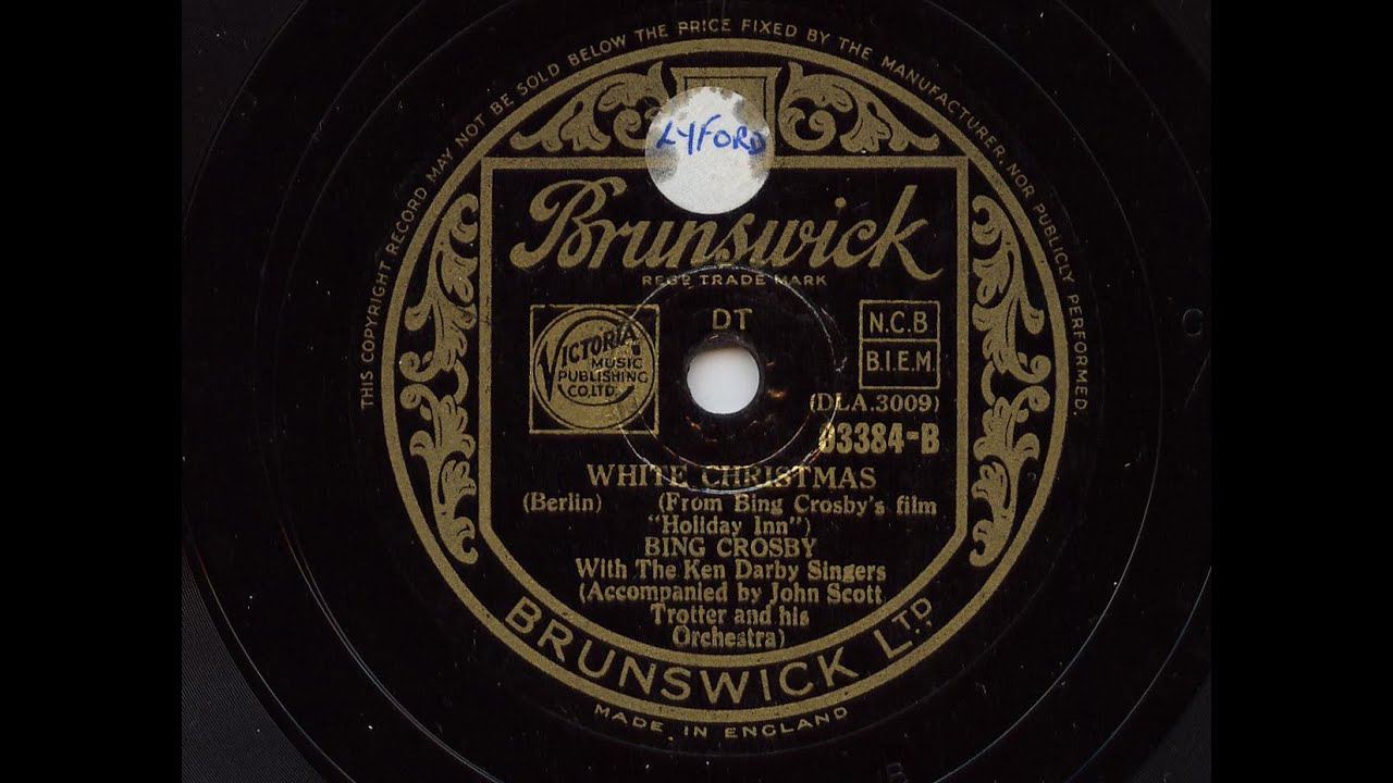 Bing Crosby 'White Christmas' Original 1942 version 78 rpm - YouTube