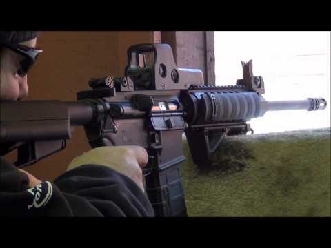 Shooting the DPMS AR15 at the range