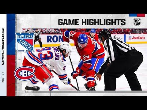 Rangers @ Canadiens 10/16/2021   NHL Highlights