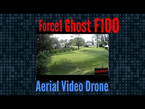 Force1 F100 Ghost Video Drone First Stunt Flight - Another amazing affordable aerial camera & video
