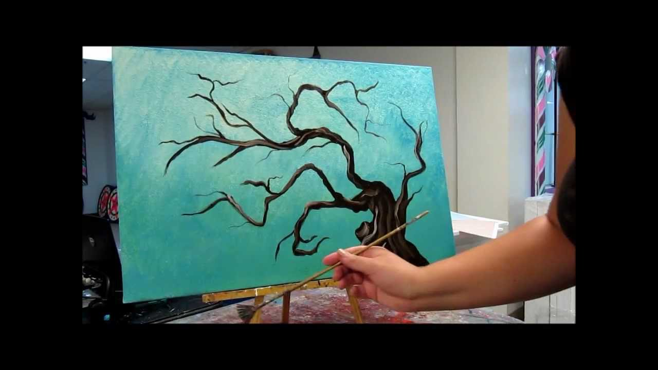 How To Paint Tree Branches Painting Tutorial Youtube
