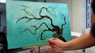 How to paint tree branches - Painting Tutorial