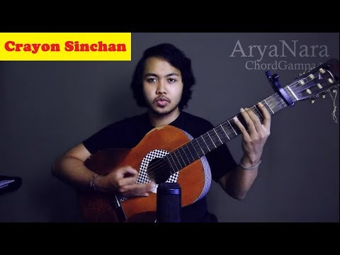 Chord Gampang (CRAYON SINCHAN) By Arya Nara (Tutorial)