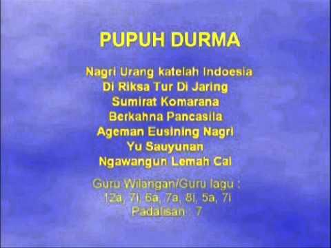 Lagu Sunda dengan Lirik | PUPUH DURMA