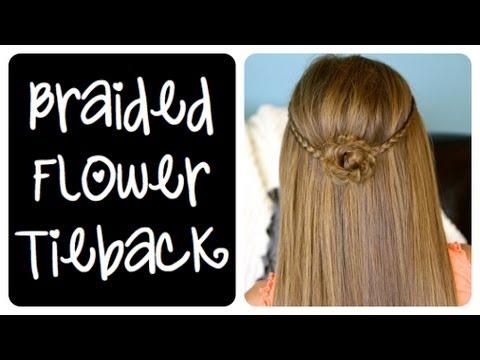 Braided Flower Tieback | Cute Girls Hairstyles