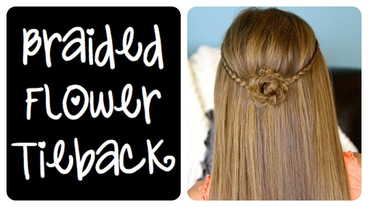 braided flower tieback | cute girls hairstyles - youtube