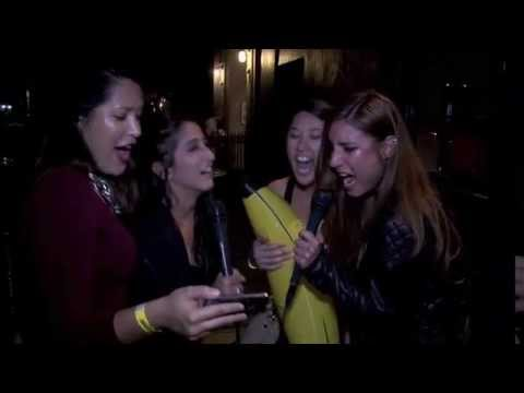 Late Night Street Karaoke: Drunk People Singing Their Favorite Songs With Headphones In