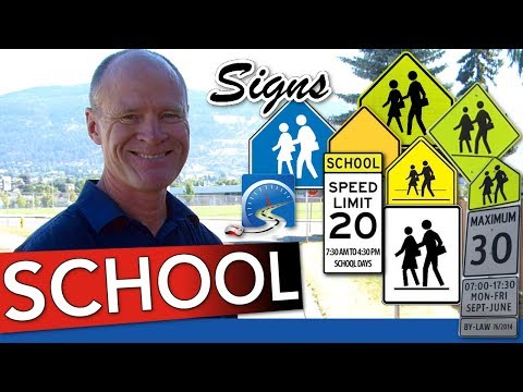School Signs and Zones :: Read and Interpret to Pass Your Road Test