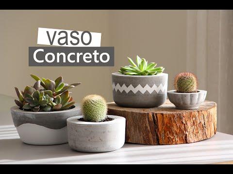 DIY COMO FAZER UM VASO DE CIMENTO CASEIRO #1 | Nanny Ribeiro
