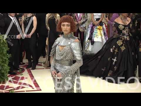 Zendaya on the red carpet for the MET Costume Institute Gala