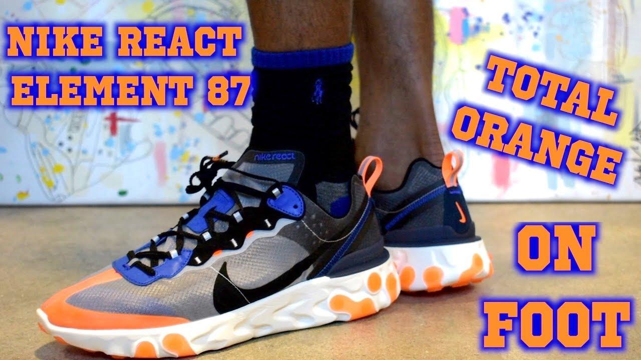 Nike React Element 87 Total Orange ON