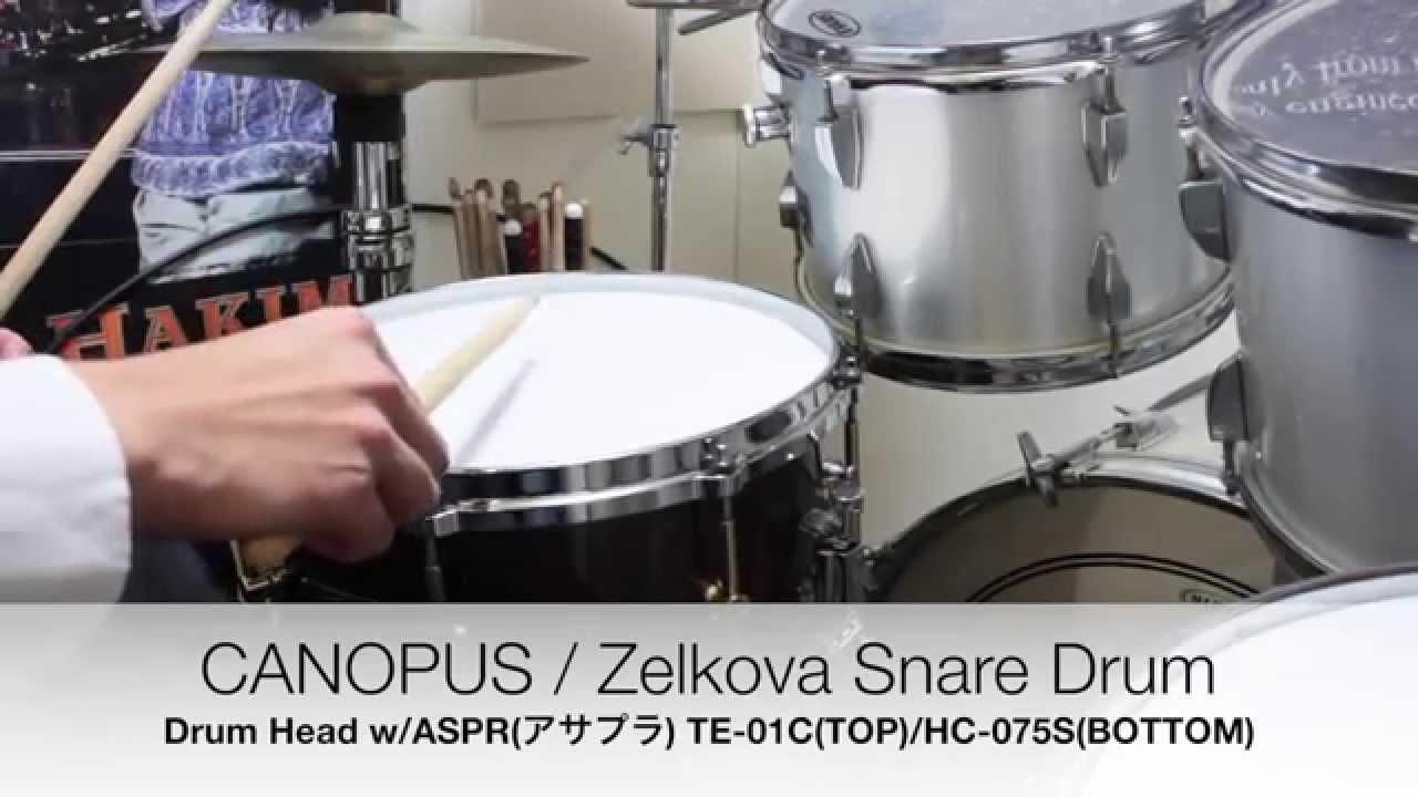 canopus zelkova snare drum hs 1465 w aspr west youtube. Black Bedroom Furniture Sets. Home Design Ideas