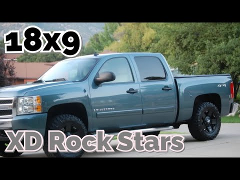 2007 Silverado Black XD Rockstars 285/65/18 Nitto Trail Grappler 2' Level kit