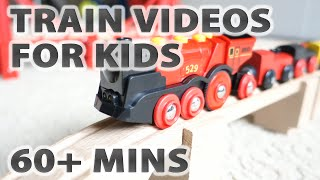 Train Videos For Kids: Brio Mighty Red Locomotive Engine Pulling Ikea Wooden Wagons