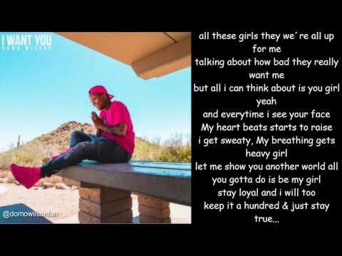 Domo Wilson - I Want You (Lyrics)