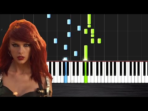 Taylor Swift - Bad Blood - Piano Cover/Tutorial by PlutaX - Synthesia