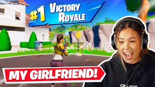 getting my girlfriend her FIRST win in fortnite!