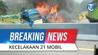 BREAKING NEWS: Video Penampakan 21 Mobil Kecelakaan Beruntun di Tol Cipularang KM 92