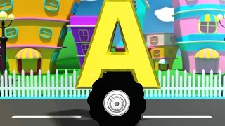 Alphabet on wheels | abc song for kids | car video | Numbers | Colors | Shape