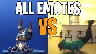 Fortnite All Emote & Dances in Real Life! (Boogie Down , Twist , The Worm , Star Power)