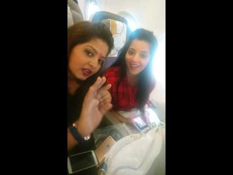 Beautiful actress Gunjan pant, Monalisa, Priyanka pandit, Anand going to Doha qatar