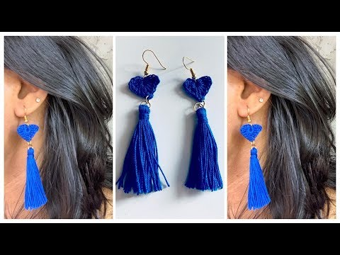 How to make a Tassel earring ||DIY Crochet earring || JA Jewelry & Crafts