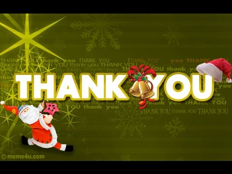 Christmas Thank You Cards YouTube – Christmas Thank You Cards