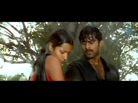Trisha And Prabhas Romanc In Rain - Varsham