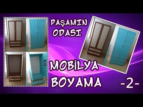 Mobilya Boyama 2 Ahşap Boyama Dolap Boyama Youtube