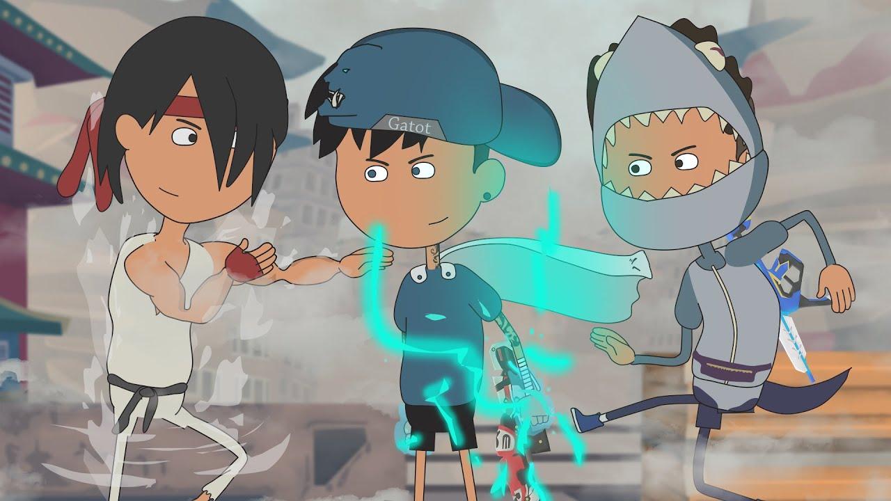 animation free fire - melawan petarung terkuat - free fire street fighter