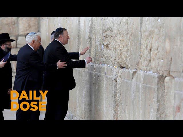 Secretary of State Pompeo Visits Jerusalem's Western Wall