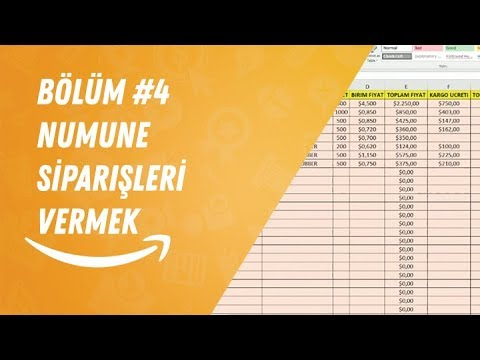 TürkiyeAmazon Amazon Satış Rehberi, Bölüm #4 Numune Siparişleri Vermek