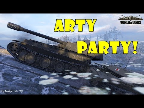 World of Tanks - Funny Moments   ARTY PARTY! #33