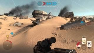 STAR WARS™ Battlefront™ gameplay ps4 jakku plaque tournante