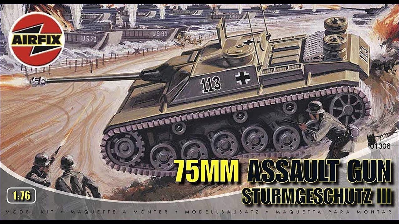 Airfix 75mm Assault Gun (Stug III) 1/76 Model Kit Complete