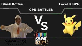 Black Koffee(Donkey Kong) vs Level 9 CPU(Pikachu) - Super Smash Bros Ultimate
